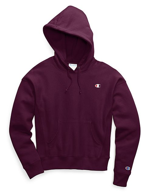 Champion Pullover Hoodie C Logo Venetian Purple Chicago City Sports