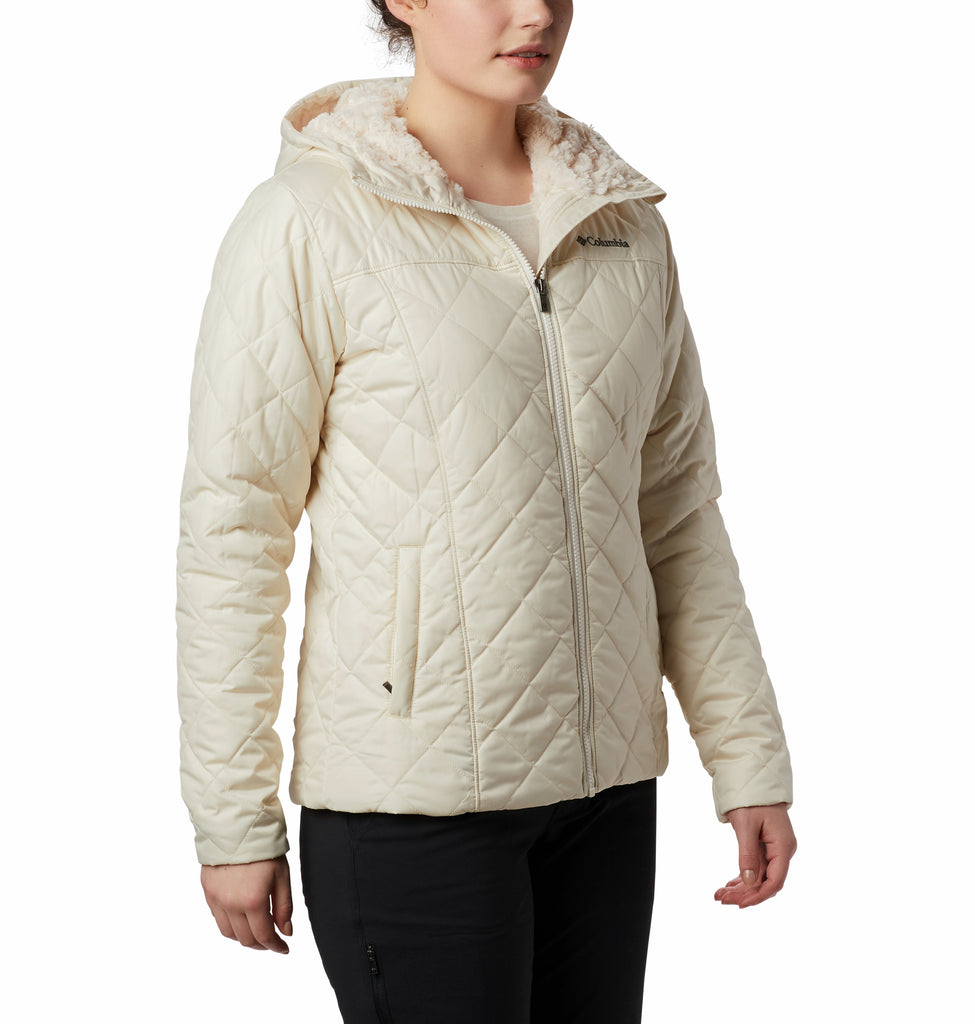 Women's Columbia Copper Crest Hooded Jacket Chalk