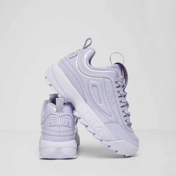 Women's FILA Disruptor 2 Premium Patent Shoes Lilac