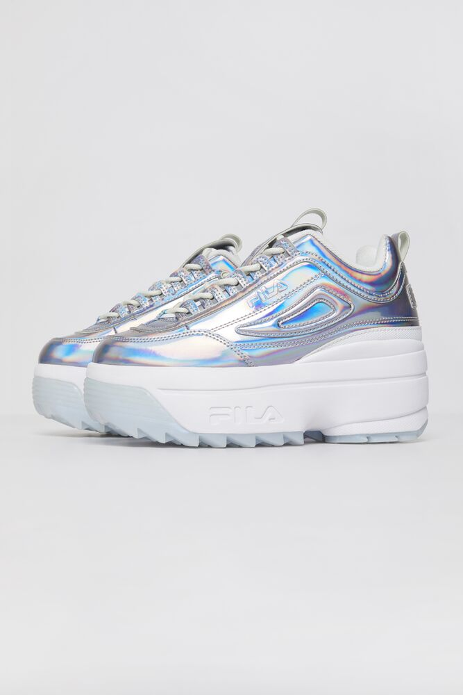 Women's FILA Disruptor 2 Wedge Iridescent Shoes