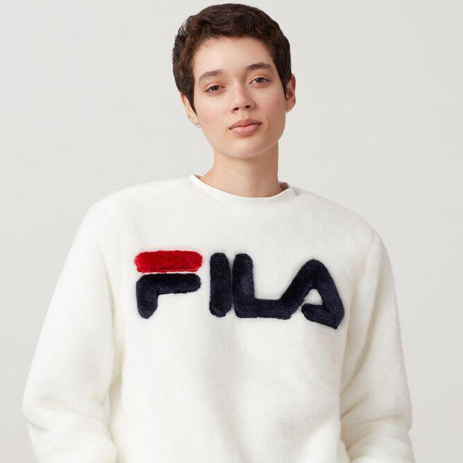 Women's FILA Emmeline Fur Sweatshirt White
