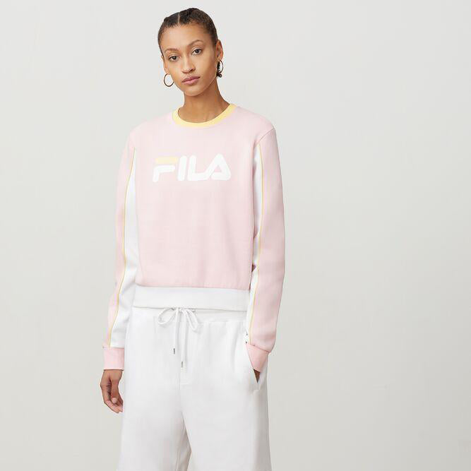 Women's FILA Nuria Colorblock Sweatshirt Pink