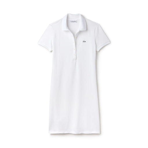 Women's Lacoste Stretch Cotton Polo Dress White
