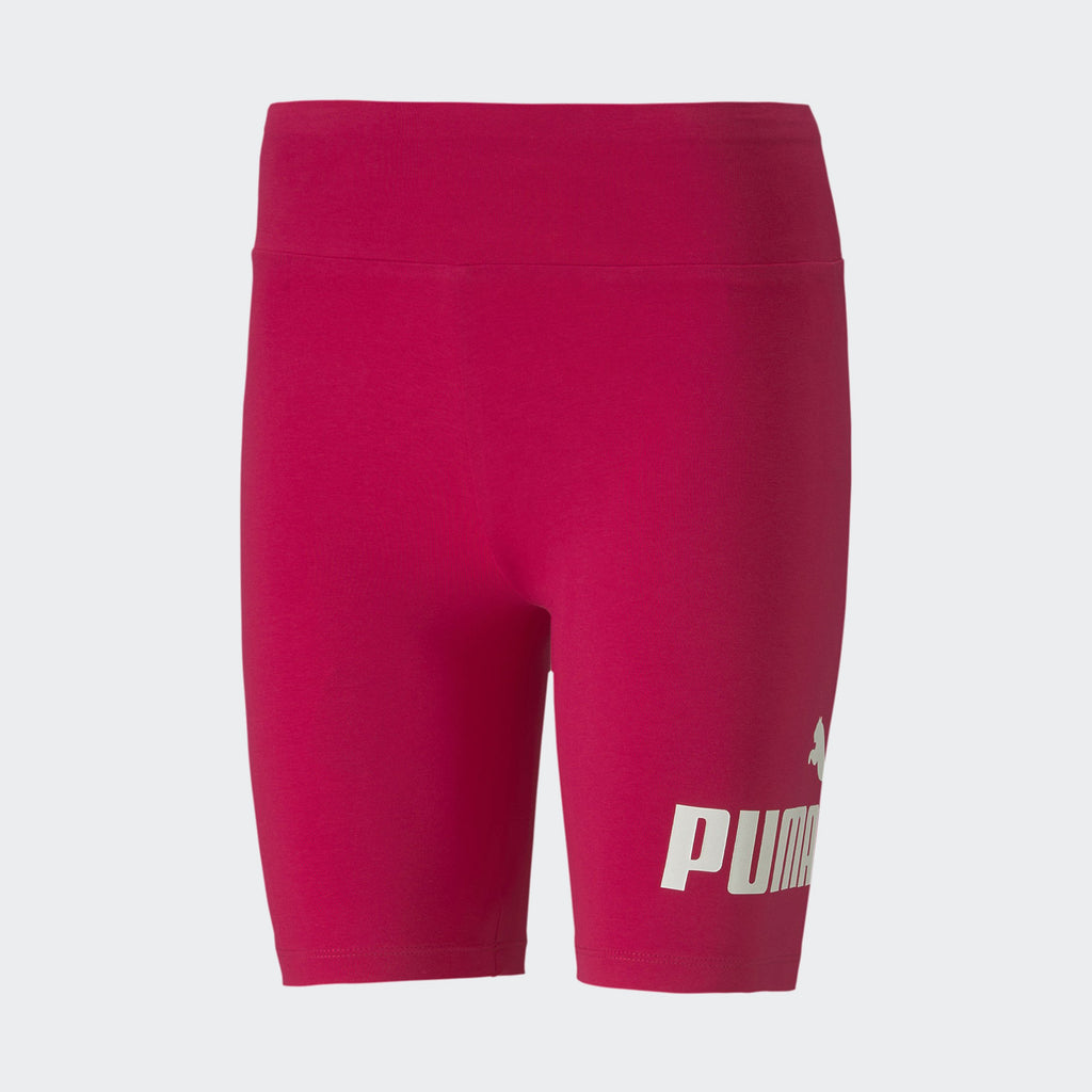 "Women's PUMA Essentials+ 7"" Biker Shorts Red"
