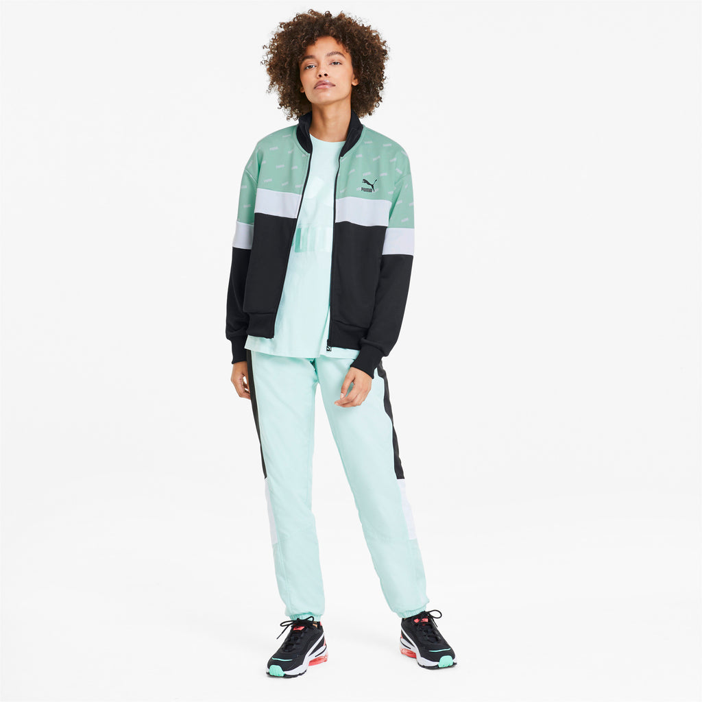 Women's PUMA AOP Track Jacket Mist Green