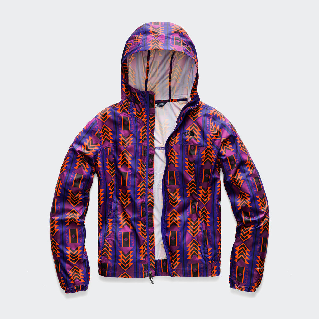 Women's The North Face Print Cyclone Jacket Aztec Blue