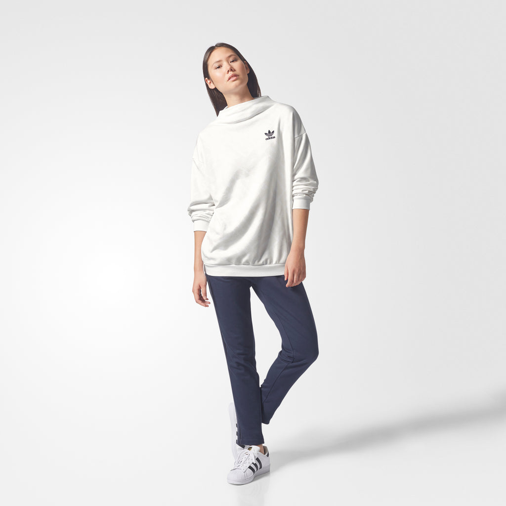 Women's adidas Allover Print Sweatshirt Chalk White