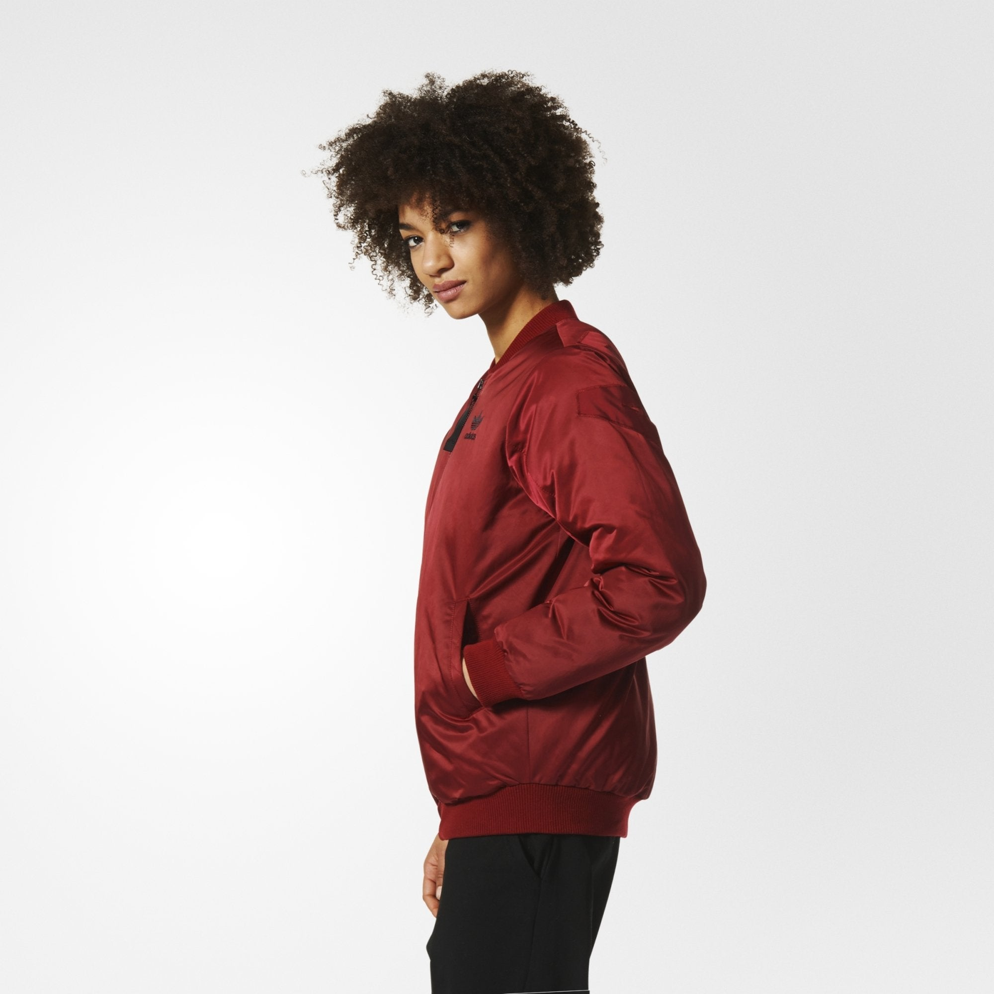c4a4d2c5565d Women s adidas Originals Mid Bomber Padded Jacket Collegiate Burgundy. 1