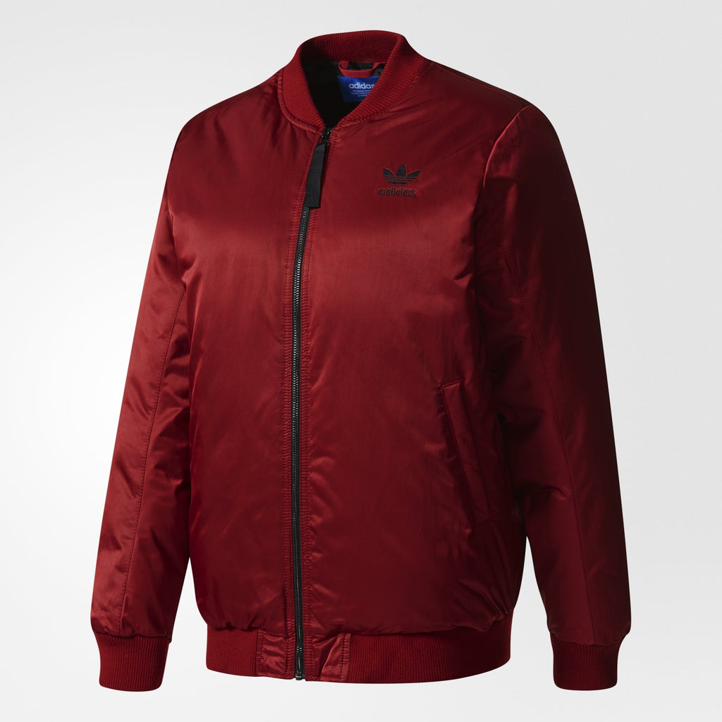 Women's adidas Originals Mid Bomber Padded Jacket Collegiate Burgundy