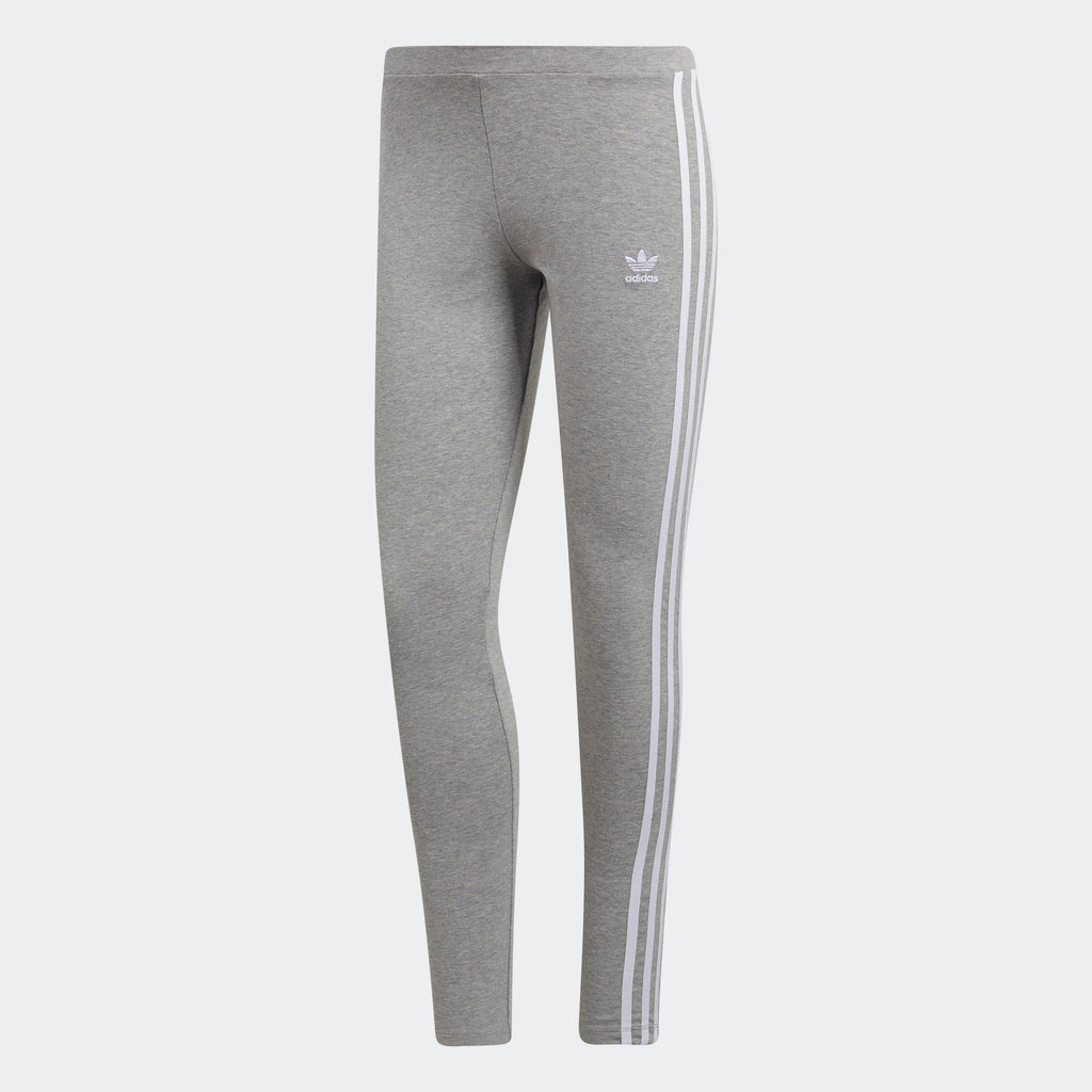 Women's adidas Originals 3-Stripes Leggings Gray Heather