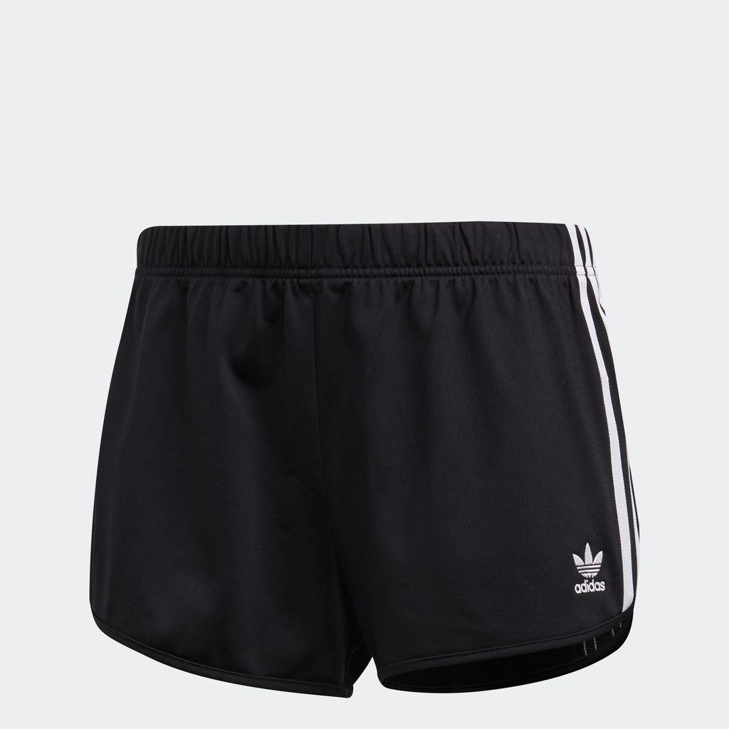 Women's adidas Originals 3-Stripes Shorts Black White