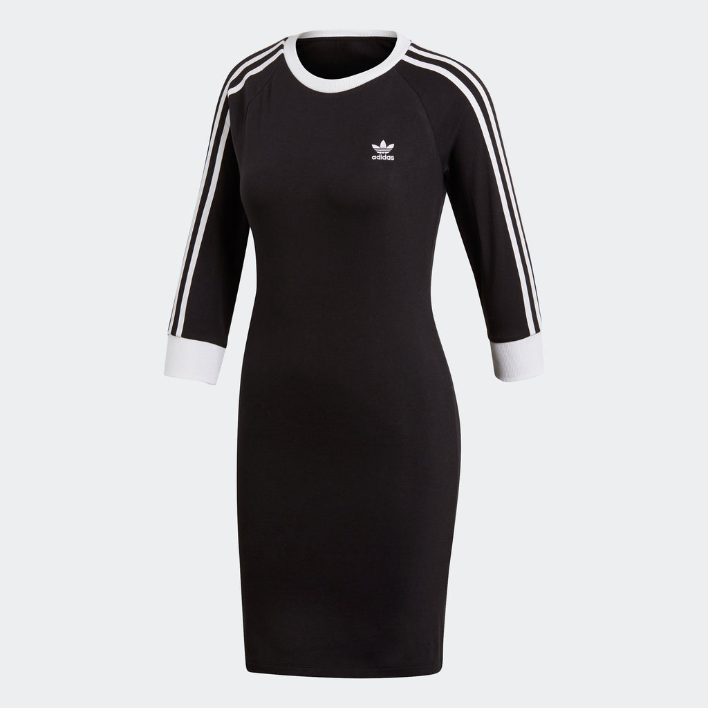 Women's adidas Originals 3-Stripes Slim Dress Black