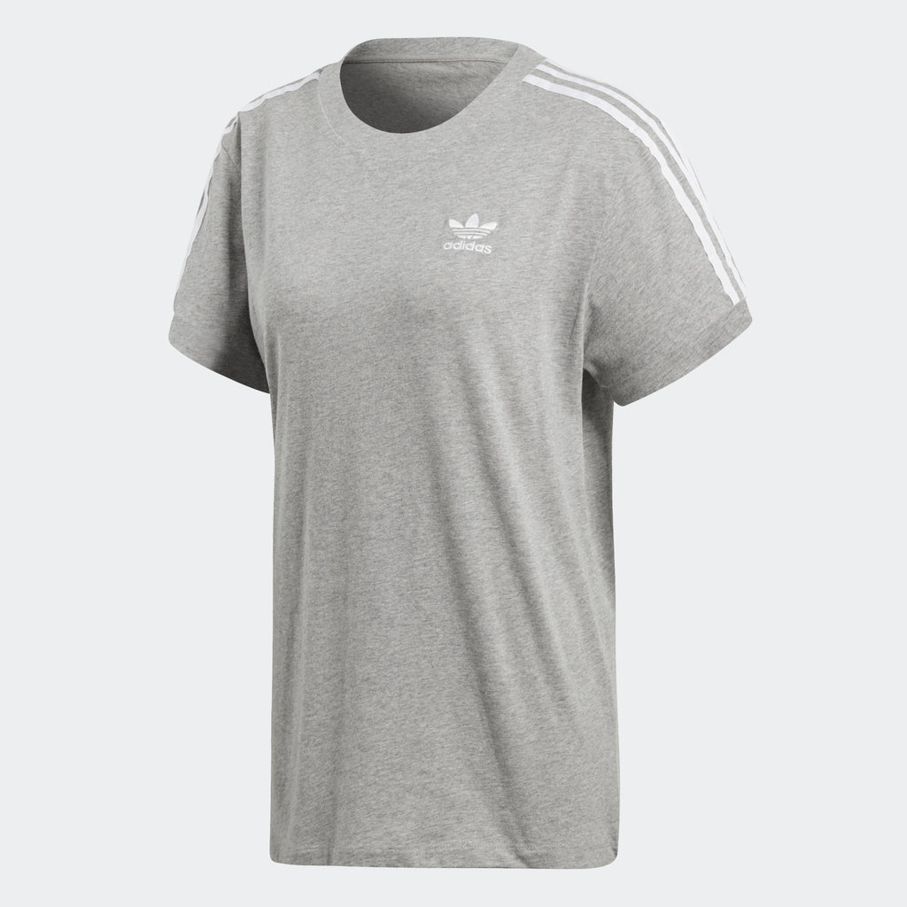 Women's adidas Originals 3 Stripes Tee Gray Heather