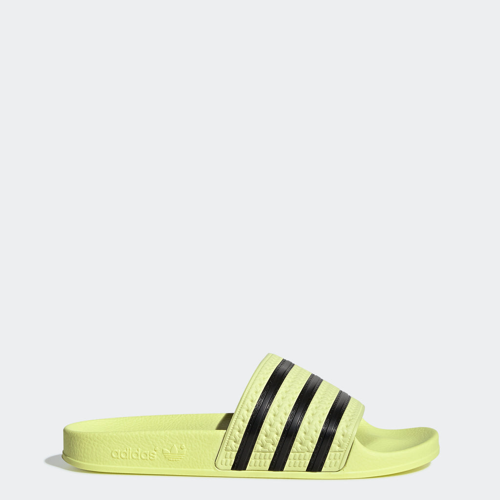 Women's adidas Originals Adilette Slides Ice Yellow