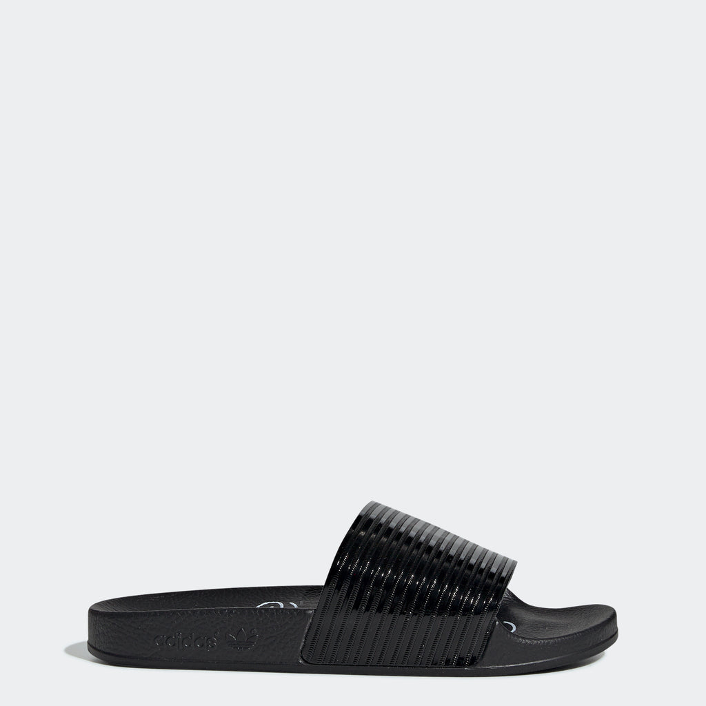 Women's adidas Originals Adilette Slides Patent Black