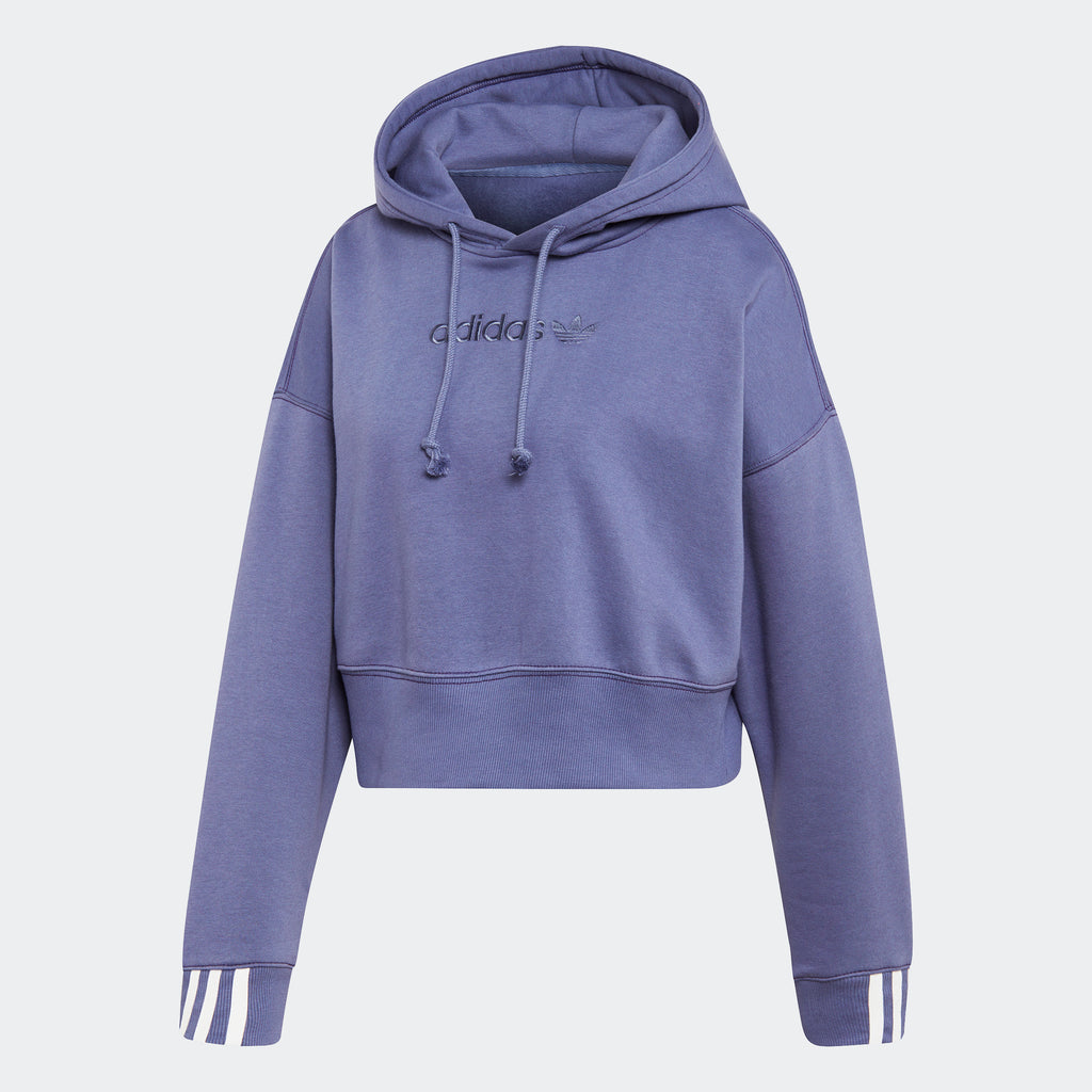 Women's adidas Originals Coeeze Cropped Hoodie Raw Indigo