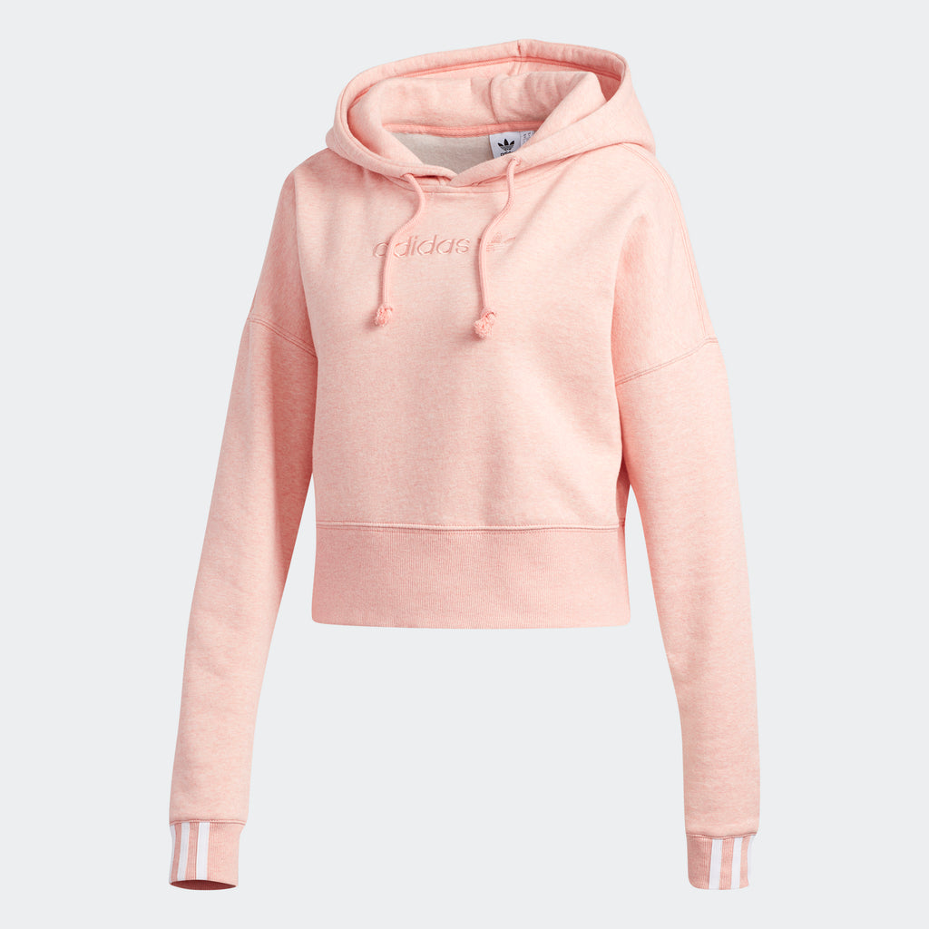Women's adidas Originals Coeeze Cropped Hoodie Trace Pink