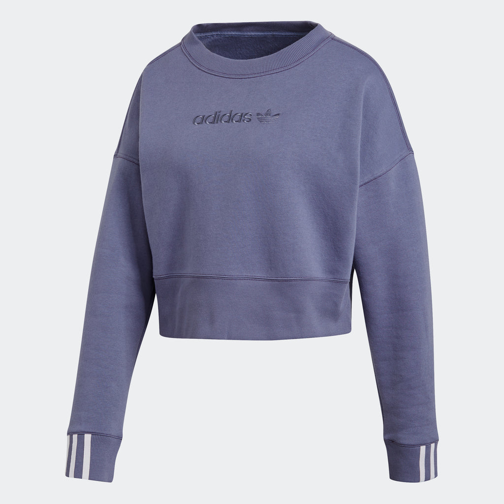 Women's adidas Originals Coeeze Cropped Sweatshirt Raw Indigo