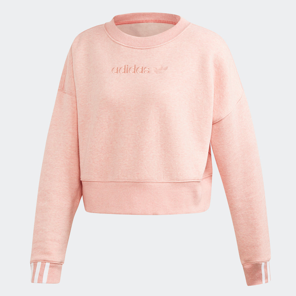 Women's adidas Originals Coeeze Cropped Sweatshirt Trace Pink