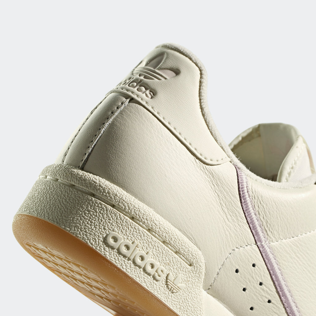 Women's adidas Continental 80 Shoes Off White G27718 | detailed heel area view