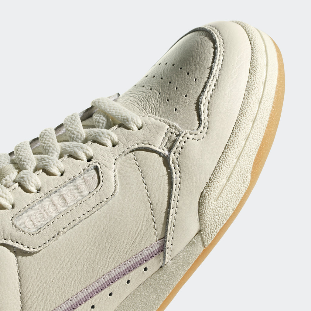 Women's adidas Continental 80 Shoes Off White G27718 | detailed toe area view