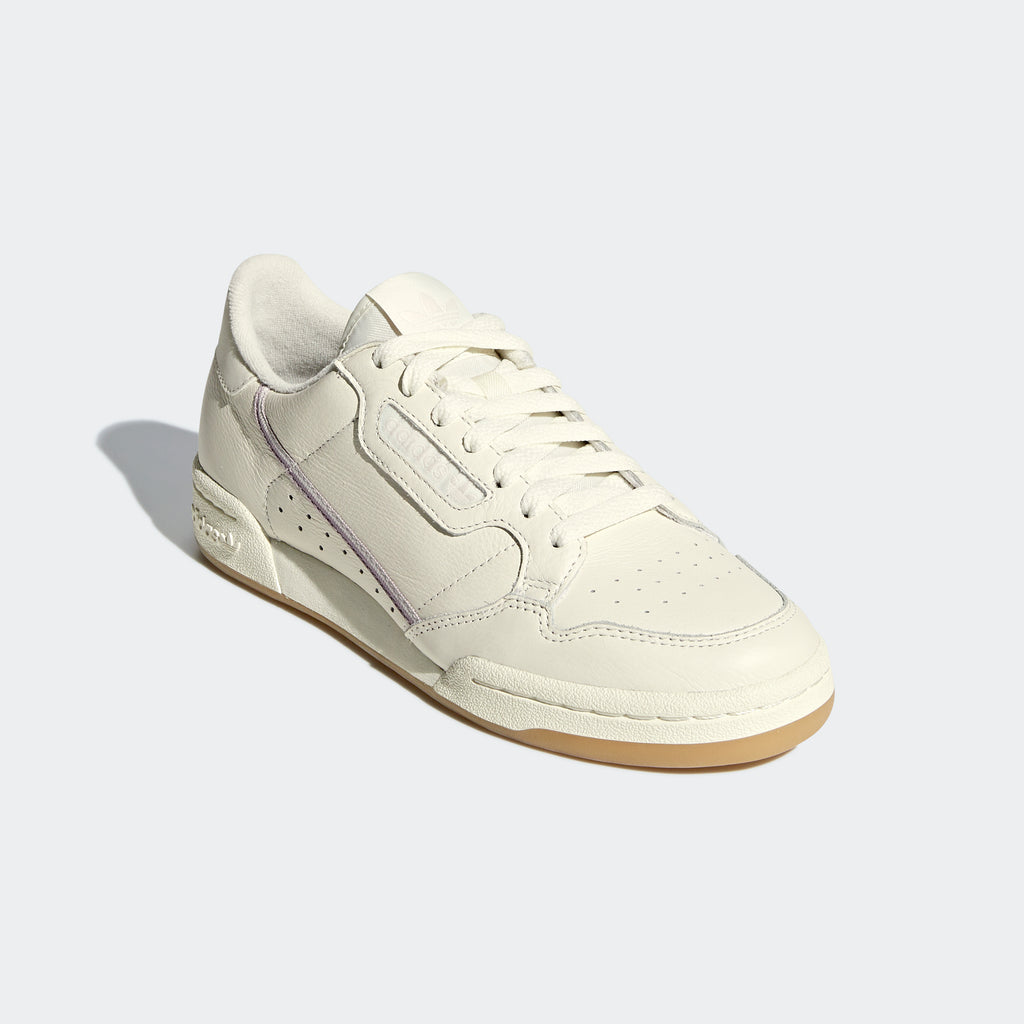 Women's adidas Continental 80 Shoes Off White G27718 | diagonal view