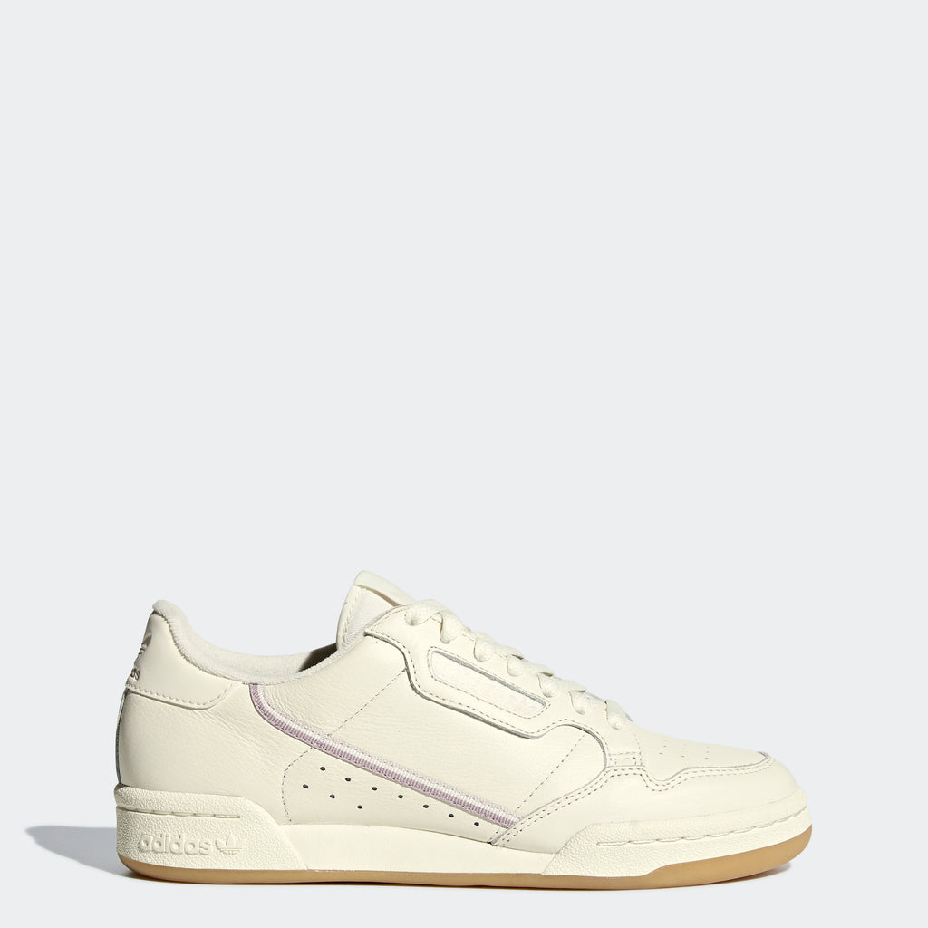 Women's adidas Continental 80 Shoes Off White G27718 | Chicago City Sports | side view