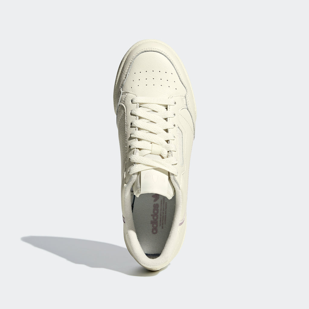 Women's adidas Continental 80 Shoes Off White G27718 | top view