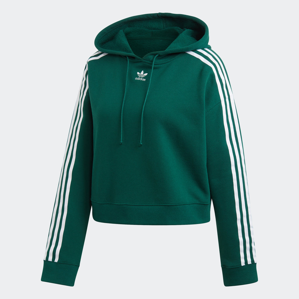 Women's adidas Originals Cropped Hoodie Collegiate Green