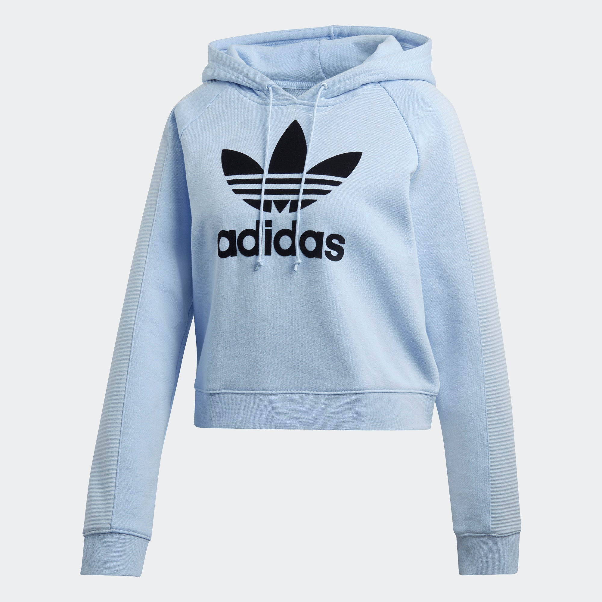 adidas Cropped Hoodie Periwinkle DU9874 | Chicago City Sports