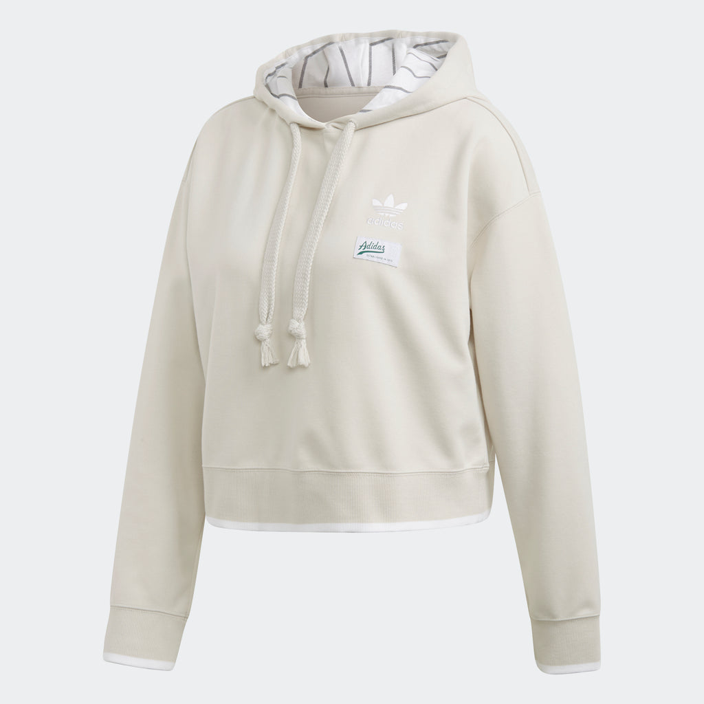 Women's adidas Originals Cropped Hoodie Raw White
