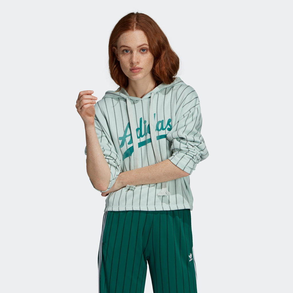 Women's adidas Originals Cropped Hoodie Vapour Green