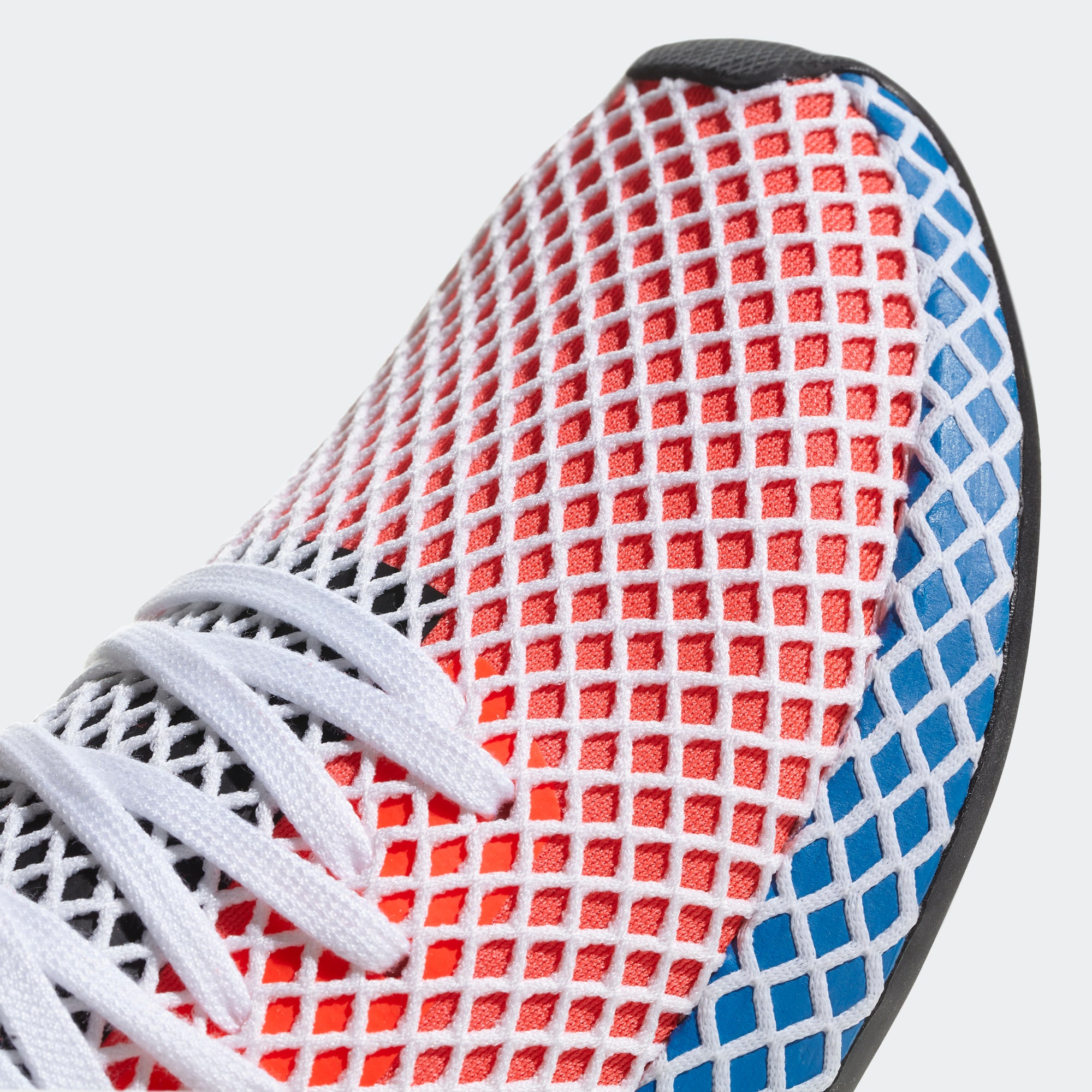 3decec47d Women s adidas Originals Deerupt Runner Shoes Solar Red  Blue Bird ...