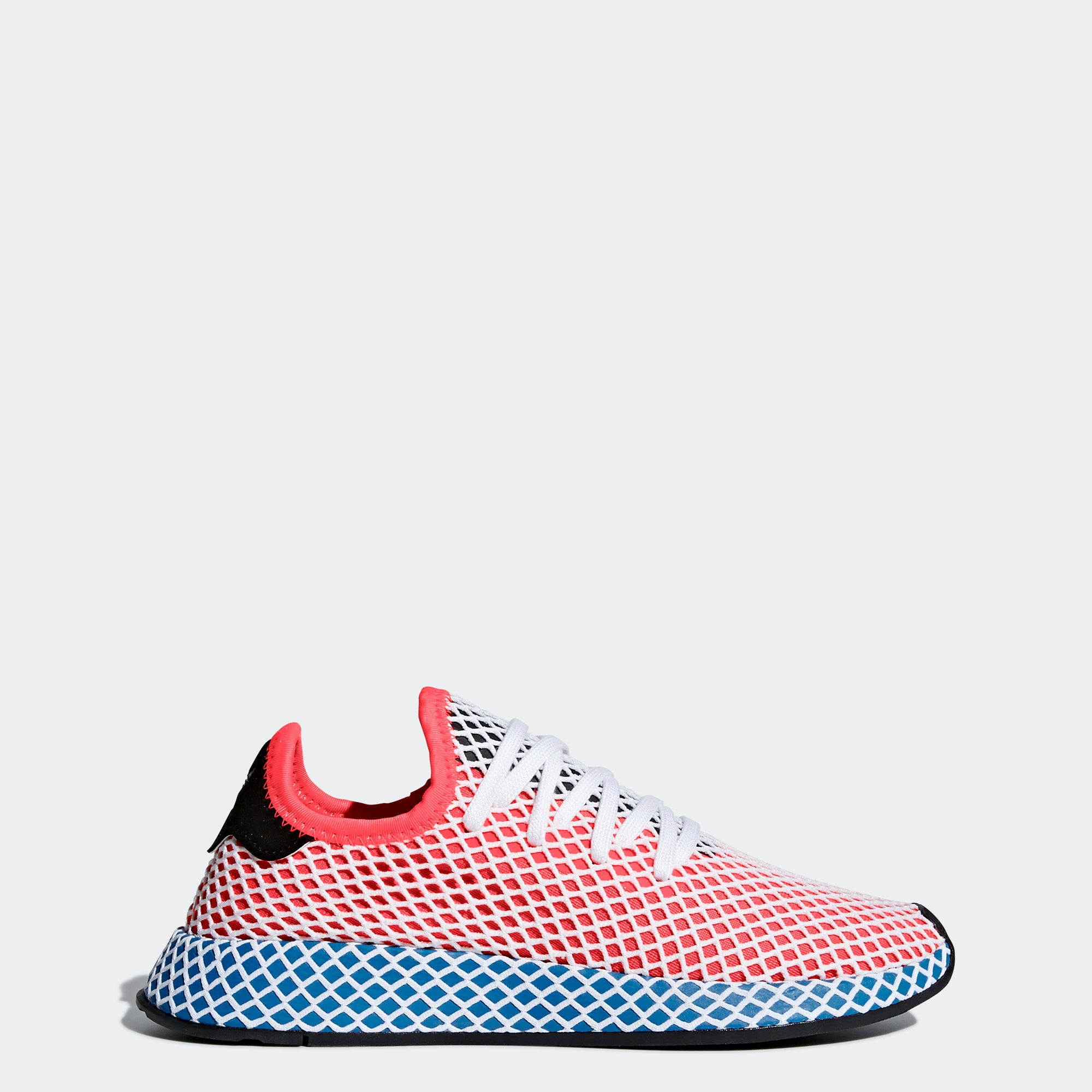 online store fc957 70290 Womens adidas Originals Deerupt Runner Shoes Solar Red Blue Bird