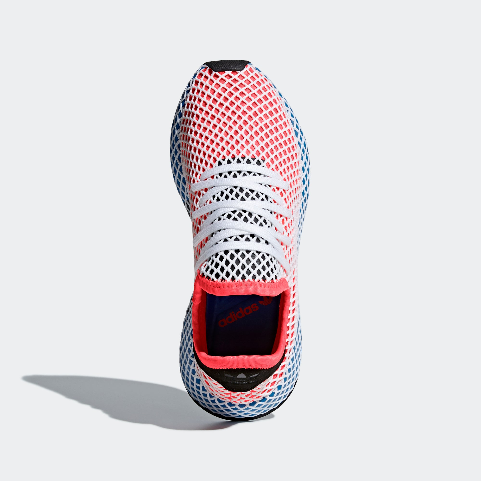 online retailer e9178 5faca Womens adidas Originals Deerupt Runner Shoes Solar Red Blue Bird. 1
