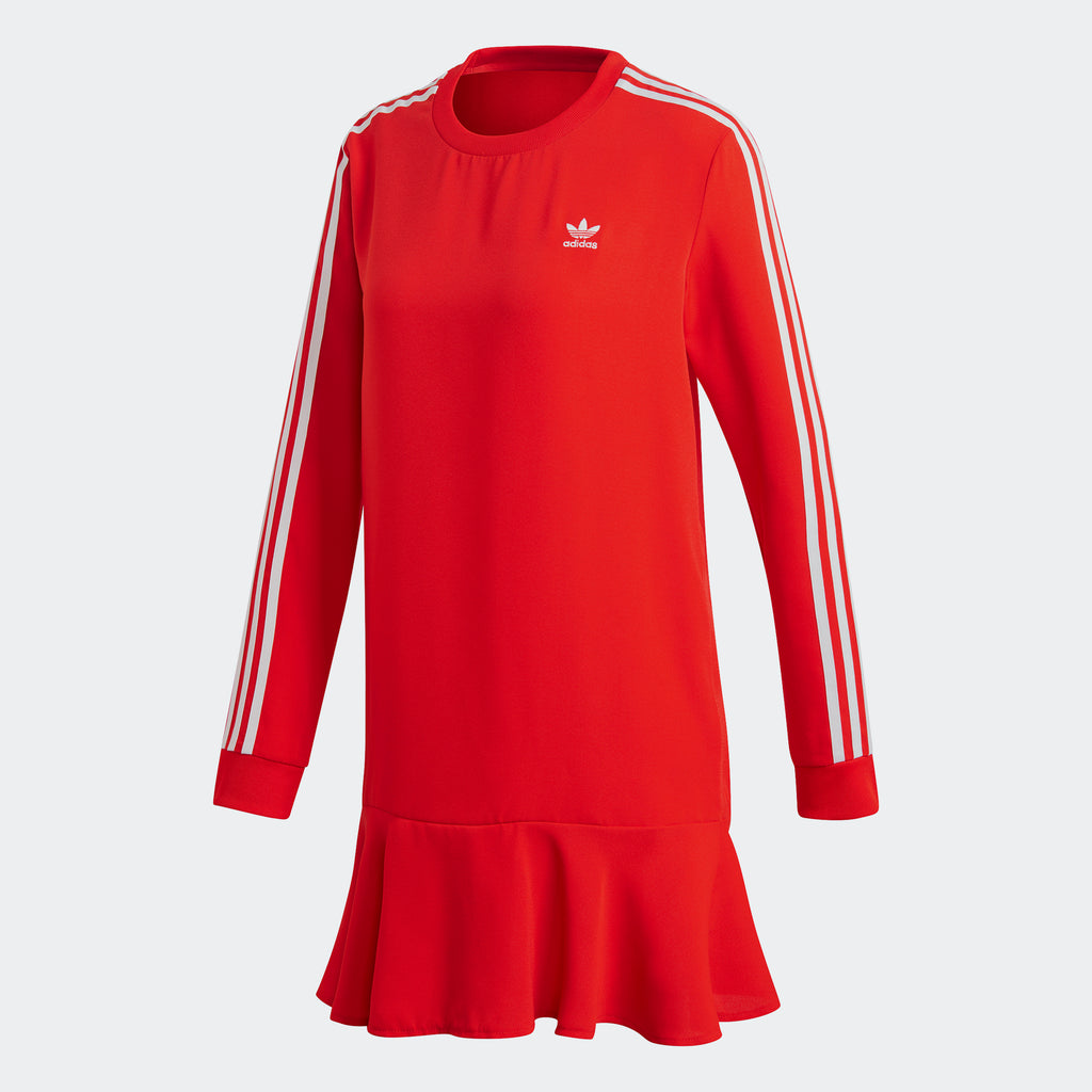 Women's adidas Originals Drop Waist Dress Red