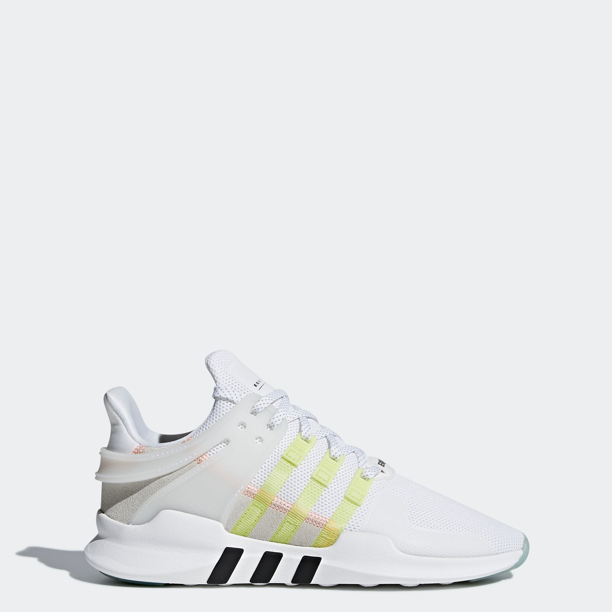 Women s Adidas Originals EQT Support ADV Shoes Cloud White and Yellow a25da8d2f6