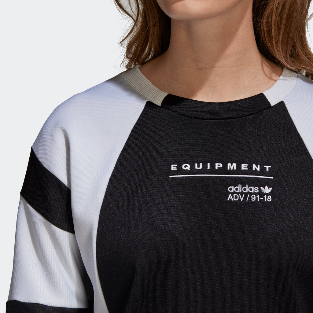 Women's adidas Originals EQT Sweatshirt Black and White