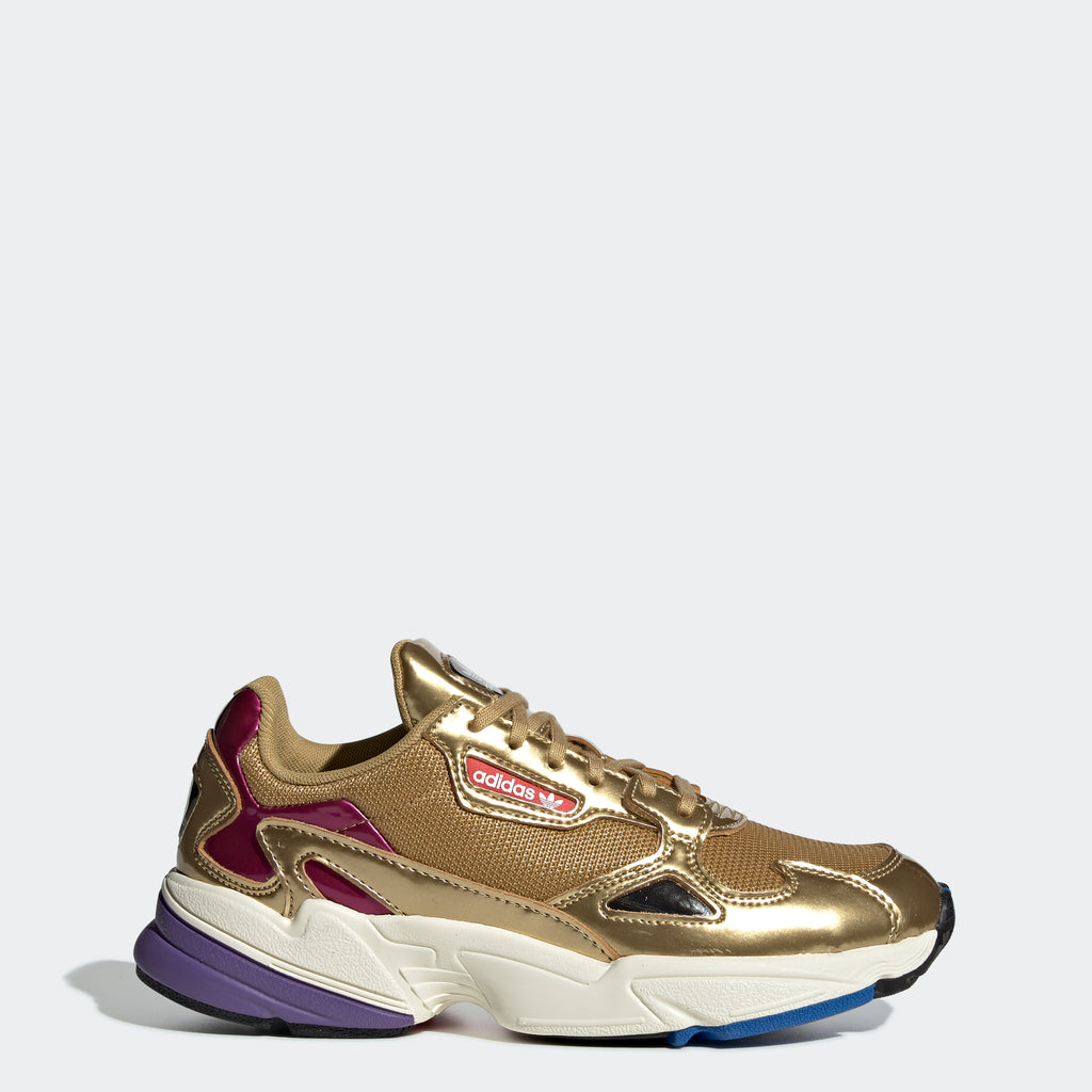 Women's adidas Originals Falcon Shoes Gold Metallic