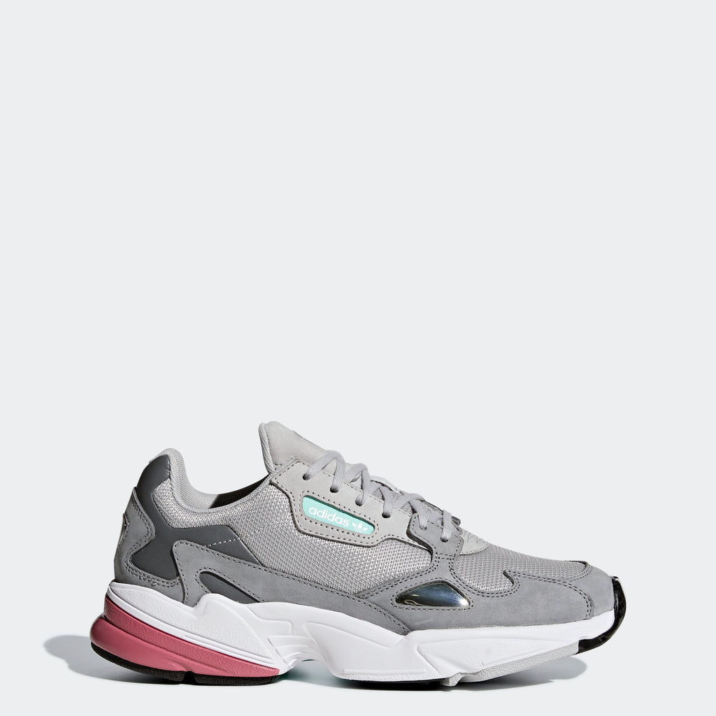 Women's adidas Originals Falcon Shoes Grey Maroon