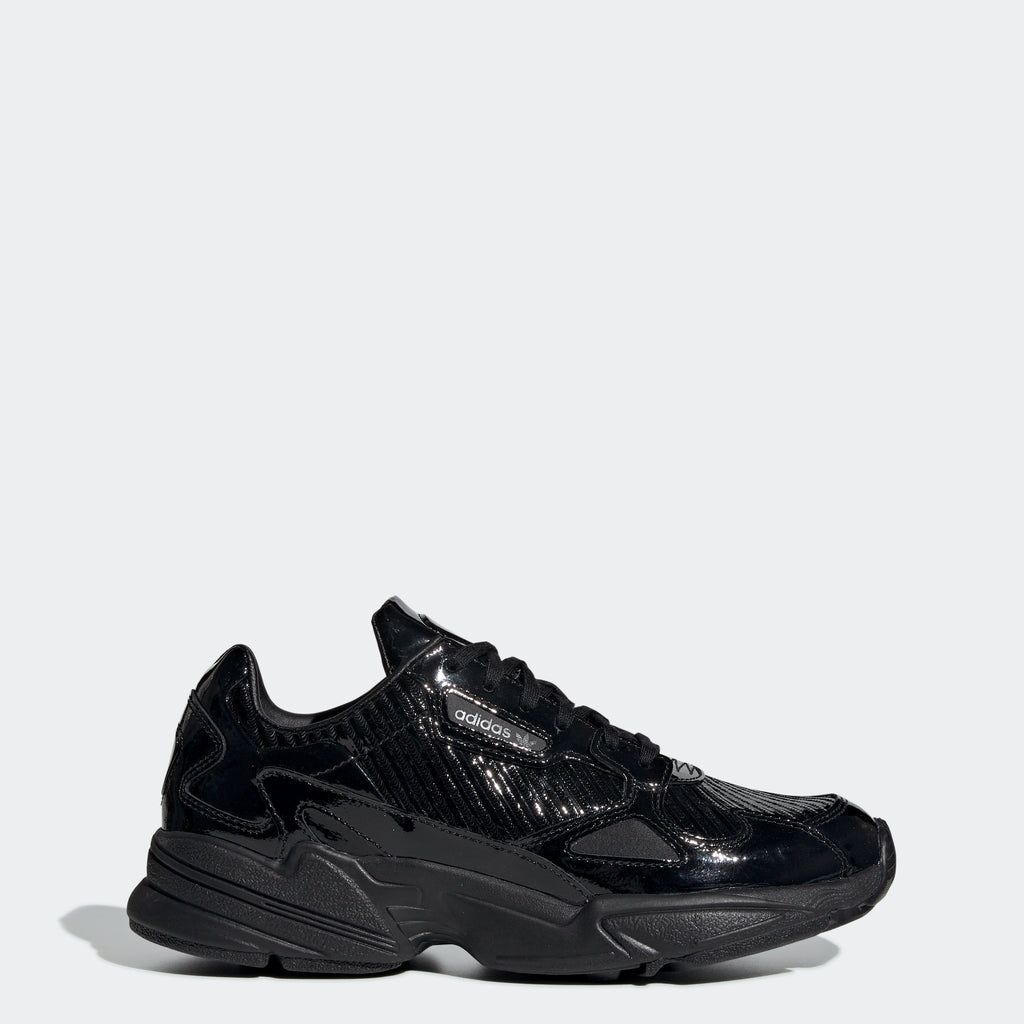 Women's adidas Originals Falcon Shoes Patent Black