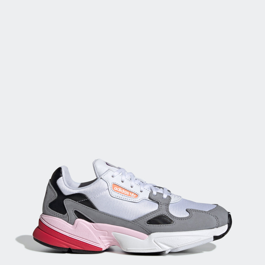 Women's adidas Originals Falcon Shoes White Pink