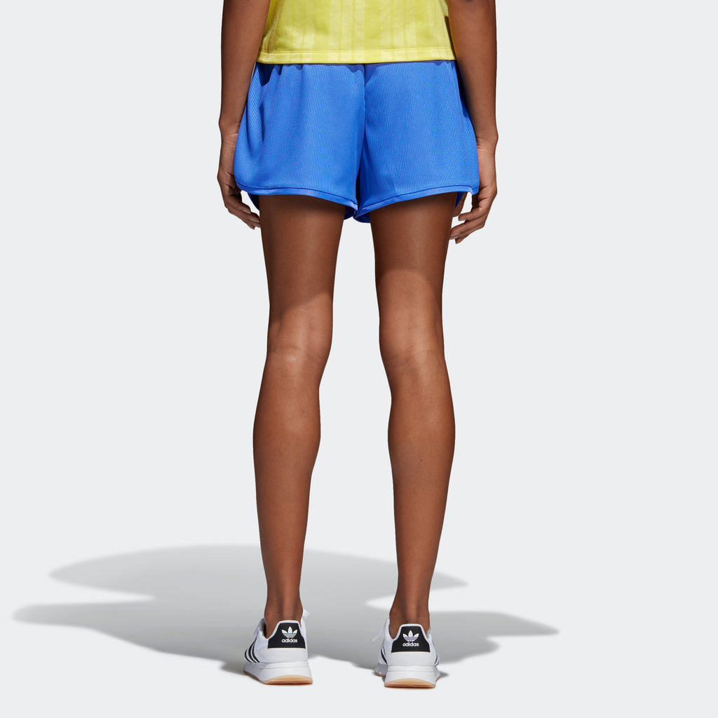 Women's adidas Originals Fashion League Rib Shorts Blue