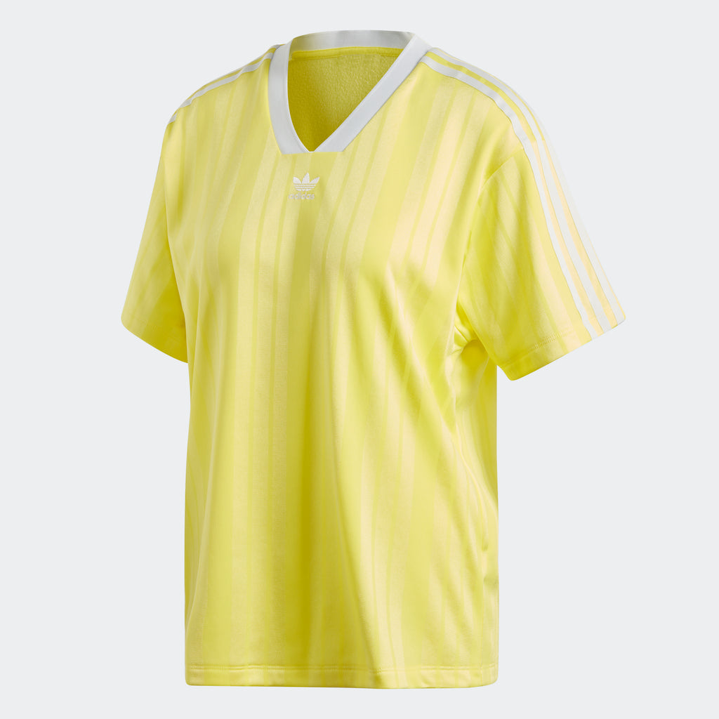 Women's adidas Originals Fashion League Tee Prime Yellow