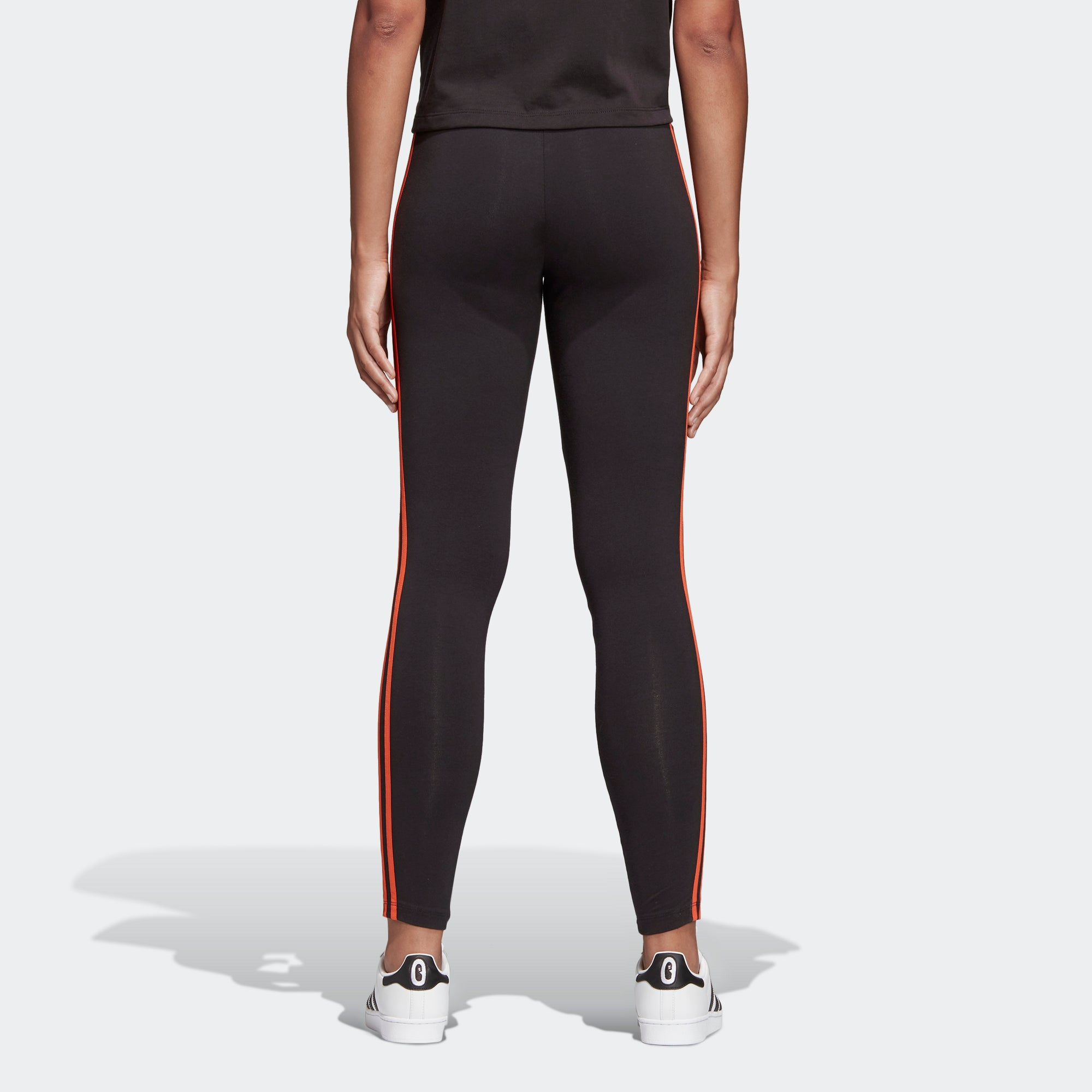 adidas Leggings Black Craft Orange DX2012 | Chicago City Sports