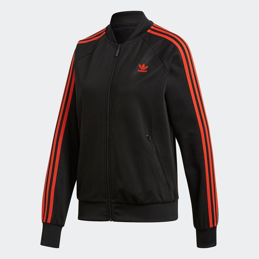 Women's adidas Originals SST Track Jacket Black Orange
