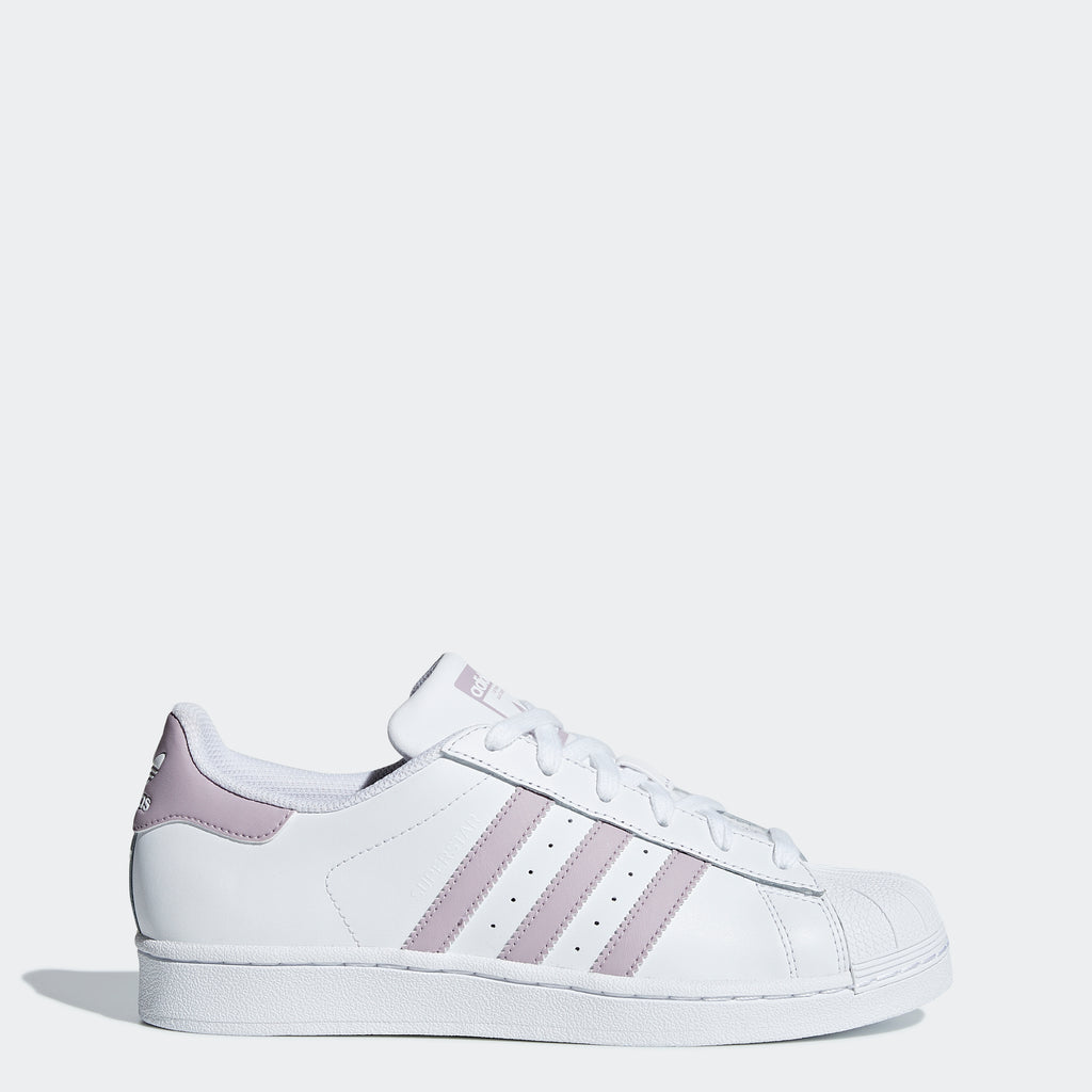 Women's adidas Originals Superstar Shoes White Soft Vision
