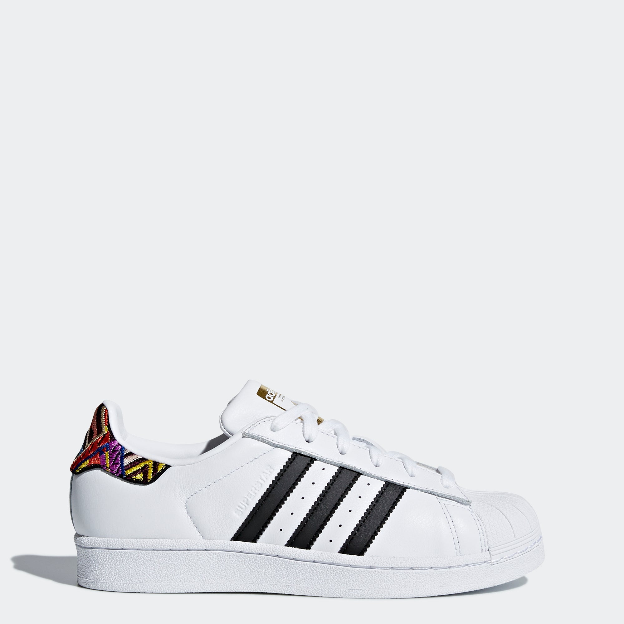 check out 9e803 d0b1a Women s Adidas Originals Superstar Shoes White and Multicolor