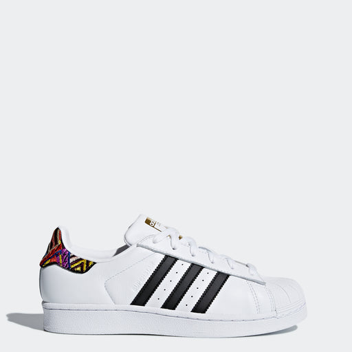 Women's Adidas Originals Superstar Shoes White and Multicolor