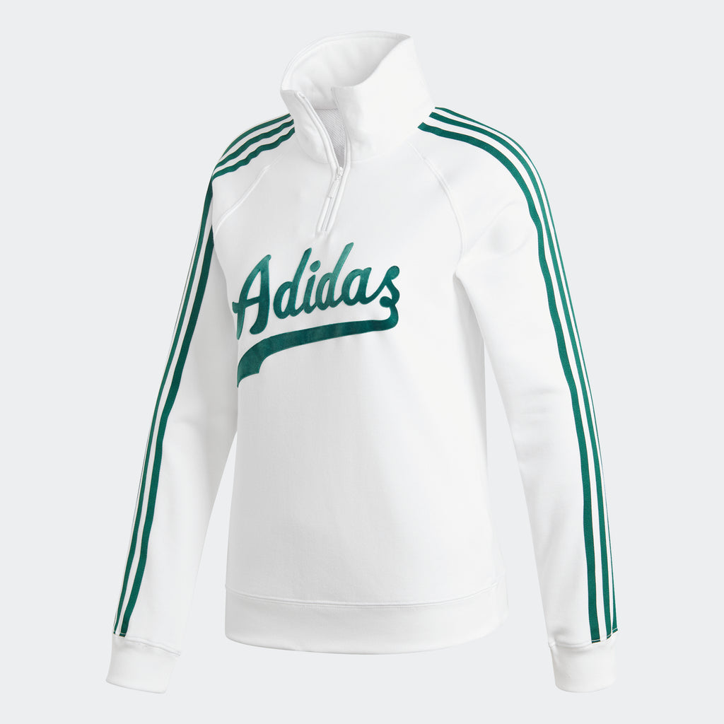 Women's adidas Originals Sweatshirt Baseball White